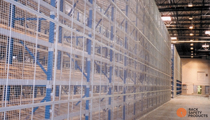 Wire Mesh Racking | Wire Mesh Backing Rack Safety Products