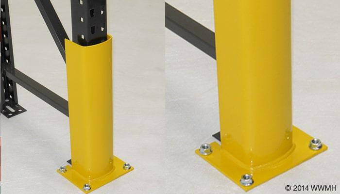 Steel Rack Post Protector For Pallet Rack Rack Safety